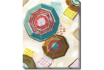 20X24 Umbrellas With Gallery Wrap Canvas