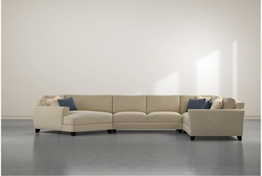 Quinton 4 Piece Sectional With Left Arm Facing Cuddler