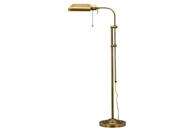 58 Inch Antique Brass Rustic Pharmacy Style Adjustable Task Floor Lamp - 360