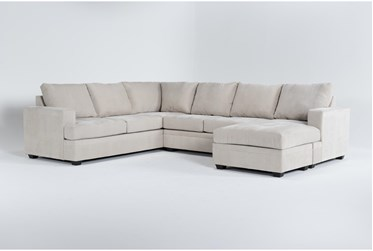 """Bonaterra Sand 127"""" 2 Piece Sectional With Right Arm Facing Chaise"""