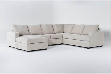 """Bonaterra Sand 127"""" 2 Piece Sectional With Left Arm Facing Chaise"""