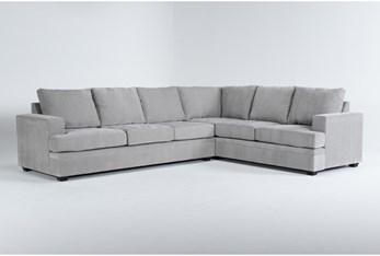 "Bonaterra Dove 127"" 2 Piece Sectional With Left Arm Facing Sofa"