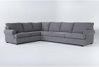 Hampstead Graphite 2 Piece Sectional With Right Arm Facing Sofa