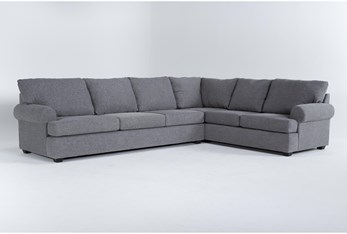 Hampstead Graphite 2 Piece Sectional With Left Arm Facing Sofa