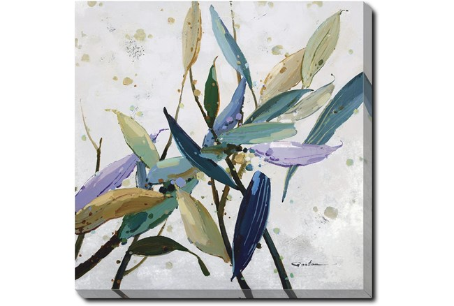 24X24 Multi Color Leaves With Gallery Wrap Canvas - 360