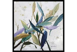 38X38 Multi Color Leaves With Black Frame