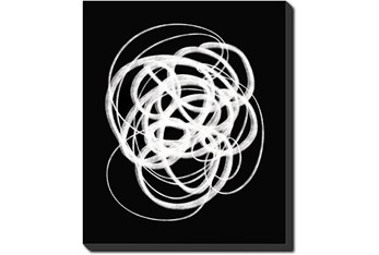 20X24 B&W Circles With Gallery Wrap Canvas