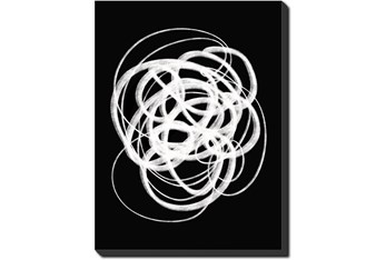 30X40 B&W Circles With Gallery Wrap Canvas
