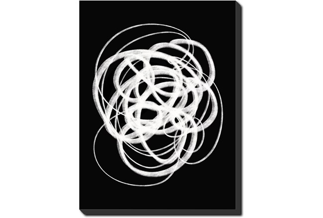 30X40 B&W Circles With Gallery Wrap Canvas - 360