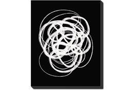 40X50 B&W Circles With Gallery Wrap Canvas