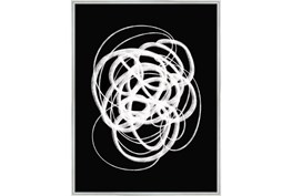 32X42 B&W Circles With Silver Frame