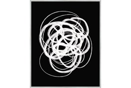 42X52 B&W Circles With Silver Frame