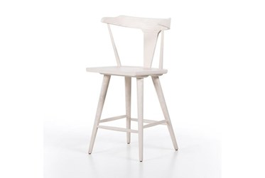 Off-White Solid Oak Counter Stool