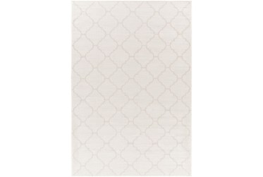 "2'6""X4' Outdoor Rug-Cream Mottled Quatrefoil"