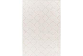 "7'8""X10' Outdoor Rug-Cream Mottled Quatrefoil"
