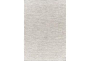 "2'6""X4' Outdoor Rug-Light Grey Mottled Scroll"