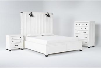 Wade Eastern King Panel 3 Piece Bedroom Set