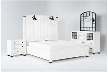Wade Eastern King Panel 4 Piece Bedroom Set