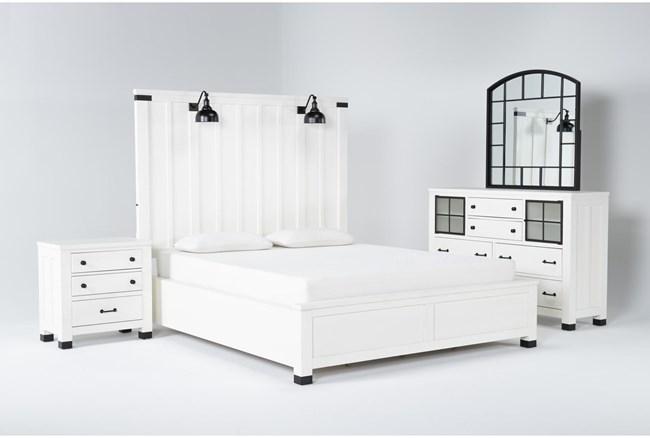 Wade Eastern King Panel 4 Piece Bedroom Set - 360