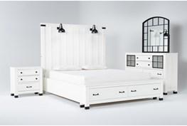Wade Eastern King Storage 4 Piece Bedroom Set