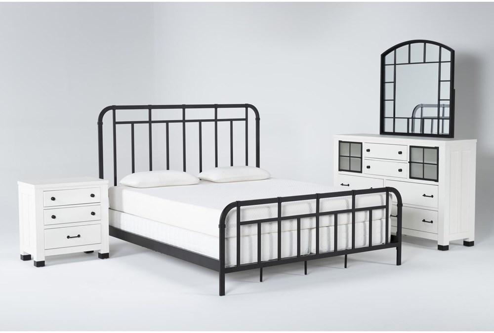 Wade Eastern King Metal 4 Piece Bedroom Set
