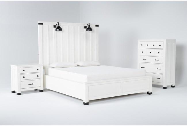 Wade California King Panel 3 Piece Bedroom Set - 360