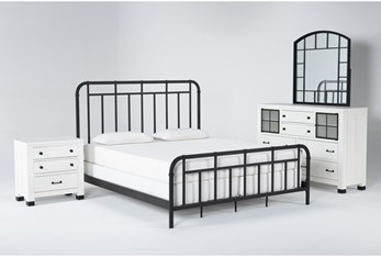 Wade California King Metal 4 Piece Bedroom Set
