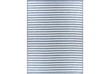 """7'8""""X10'2"""" Outdoor Rug-Denim & Cream Thin Stripe"""