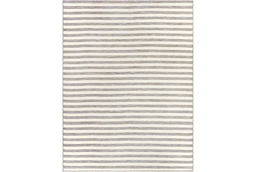 """7'8""""X10'2"""" Outdoor Rug-Camel & Taupe Thin Stripe"""