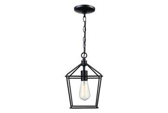 10X133.5 Black Mini Lantern Pendant