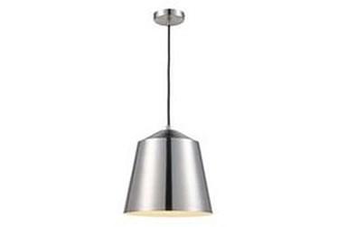 12.5X157.5 Silver Dome Pendant