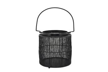 """10.25"""" Black Metal Wire Lantern"""