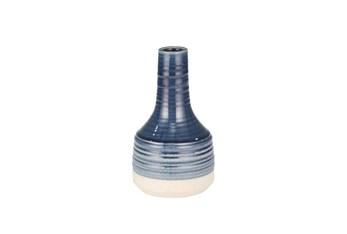 """10"""" Navy Ceramic Genie Vase"""