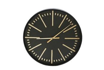 "24"" Black/Gold Metal Wall Clock"