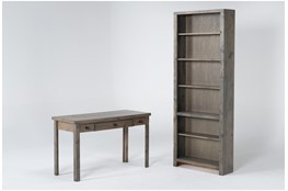 Ducar II 2 Piece Office Set With Writing Desk + Bookcase