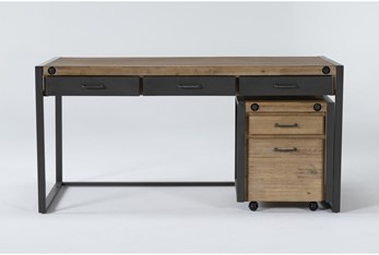 Whistler 2 Piece Office Set With Desk + Mobile File Cabinet