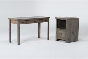 Ducar II 2 Piece Office Set With Writing Desk + File Cabinet