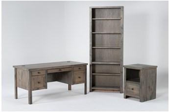 Ducar Ii 3 Piece Office Set With Executive Desk, File Cabinet + Bookcase