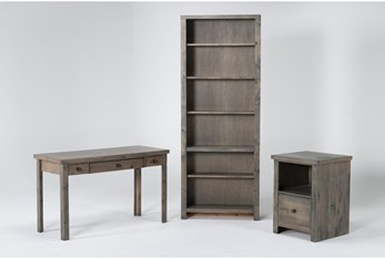 Ducar II 3 Piece Office Set With Writing Desk, File Cabinet + Bookcase