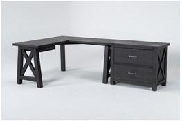 Jaxon 2 Piece Office Set With Corner Desk + Lateral File Cabinet
