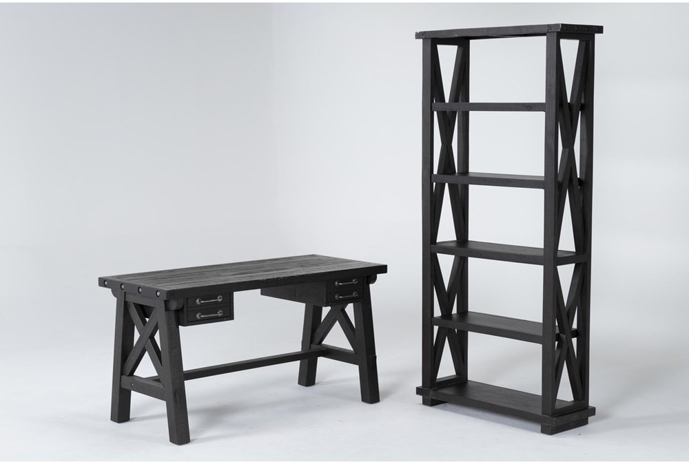 Jaxon 2 Piece Office Set With Desk + Bookcase