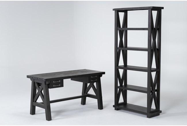 Jaxon 2 Piece Office Set With Desk + Bookcase - 360
