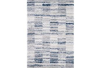 "8'8""X13' Rug-Ombre Grid Shag Blue"