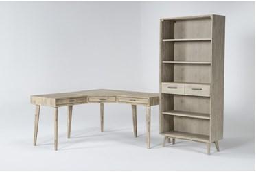 Allen 2 Piece Office Set With Corner Desk + Bookcase