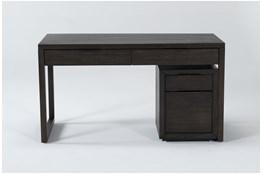 Pierce Espresso 2 Piece Office Set With Writing Desk + Mobile File Cabinet