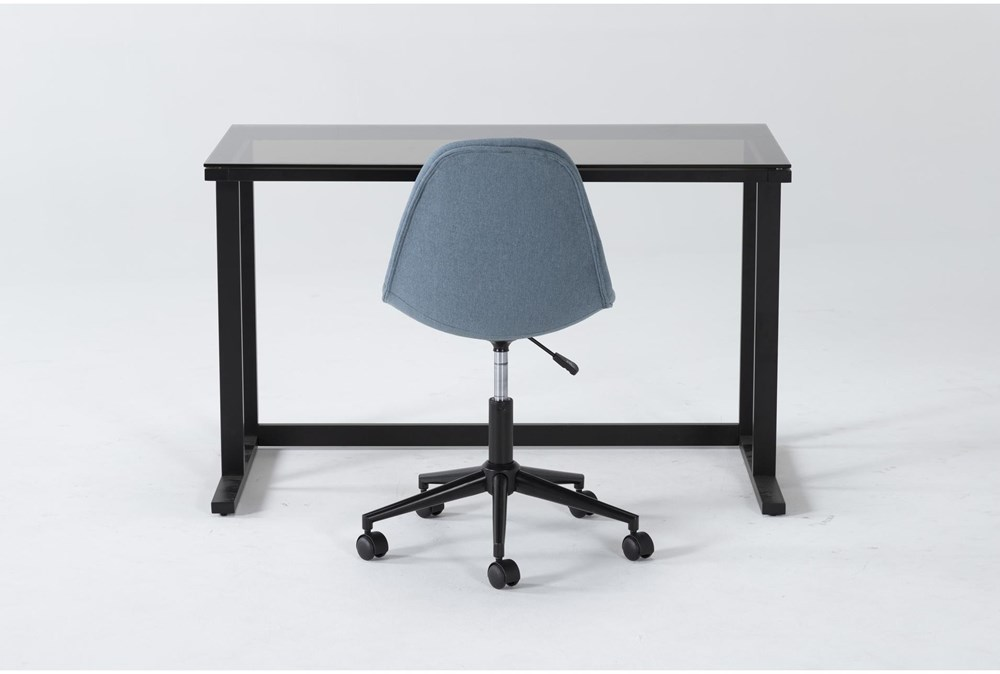 2 Piece Office Set With Studio Glass Desk + Archie Office Chair