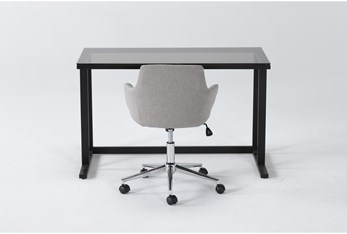 2 Piece Office Set With Studio Glass Desk + Emery Light Office Chair