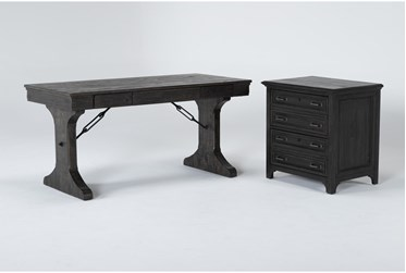 Valencia 2 Piece Office Set With Writing Desk + Lateral File
