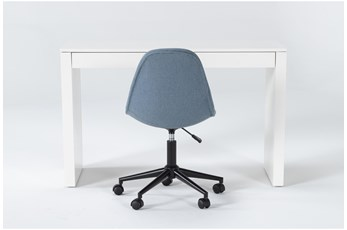 2 Piece Office Set With Vember White Desk + Archie Office Chair