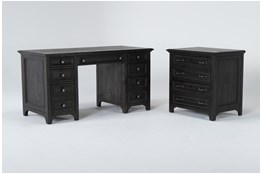 Valencia 2 Piece Office Set With Executive Desk + Lateral File